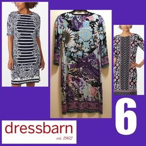 Sz 6 Dress Barn Boho 3/4 sleeve Dress